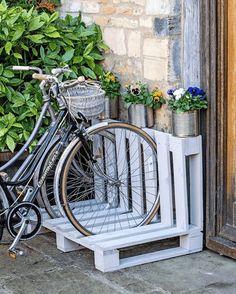 Pallet Bike Racks, Diy Bike Rack, Bicycle Rack, Bicycle Storage, Bike Storage Stand, Garden Bike Storage, Wood Bike Rack, Storage Rack, Wooden Pallet Table