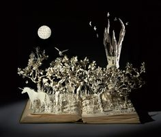 Portfolio Book-Cut Sculpture
