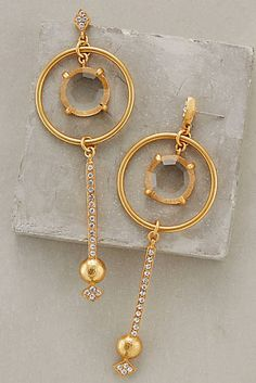 Circle-Swing Drop Earrings #anthrofave