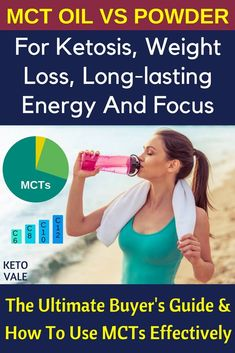 Best MCT oil and powder reviews and where to buy. Read this guide for benefits of medium-chain triglycerides for ketosis, weight loss, long-lasting energy and focus via @ketovale