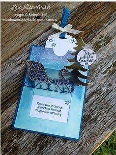 Surprise Pop-up slider cards for Christmas