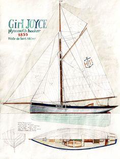 Boat Plans 494762709065313393 - Girl Joyce – Classic Boat Magazine Source by Classic Sailing, Classic Yachts, Classic Boat, Classic Girl, Sailing Terms, Sailing Ships, Yacht Design, Boat Design, Bateau Peche Promenade