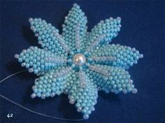 Blue Flower masterclass - Translate but very detailed pictures.  #Seed #Bead #Tutorials