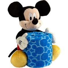 Disney Mickey Mouse Plush with Blanket