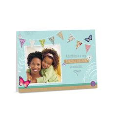 Personalized photo birthday card.