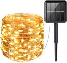 Solar Fairy Lights, Solar Led String Lights, Outdoor Fairy Lights, String Lights Outdoor, Outdoor Lighting, Lighting Ideas, Light String, Solar Powered Lights, Lights For Patio