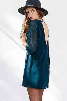 Ecote A-Line Sheath Dress - Urban Outfitters