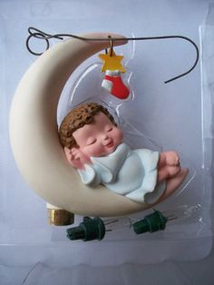 Moonlight Nap 1988 hallmark ornament - Decorative Hanging Ornaments  Collectible ornament for the holidays! Unique, rare, hard to find XMas ornament!