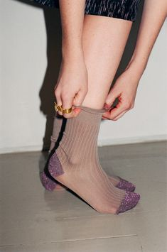 sparkly toes & heels...morghana lurex socks...via no6 store