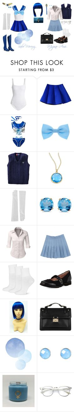 """Soldier of Water & Wisdom- Sailor Mercury (Mizuno Ami)"" by princess-cindy-dorough ❤ liked on Polyvore featuring MaxMara, Chaps, Ippolita, BillyTheTree, LE3NO, Keds, Taryn Rose, Valentino and Nintendo"