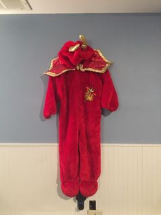 Boys Red Devil Costume Robe /& Mask Halloween Satan Demon Outfit New Ages 4-6