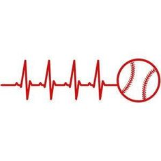 A personal favorite from my Etsy shop https://www.etsy.com/listing/517457436/baseball-heart-beat-decal-baseball