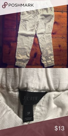 J crew linen pants 100% linen, new never worn! J crew pants great for summer and beach Pants Trousers