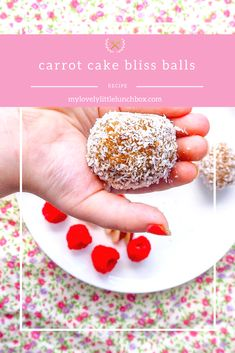 carrot cake bliss balls - my lovely little lunch box