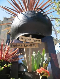 garden decorating recycling ideas flower pots do it yourself