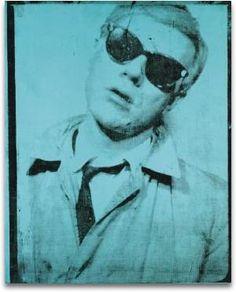Self-Portrait, 1964 (teal)  by Andy Warhol #Warhol #Art #Design #Teal #Print #Portrait