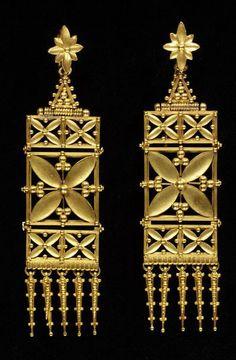 Earrings by Carlo and Arthur Giuliano,, ca. 1865-ca. 1870 (made)
