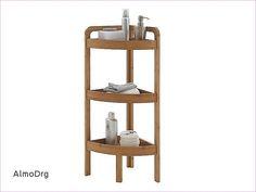 Badezimmer Eckregal Bambus Hause Deko Ideen Decoranddesign