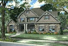 Cottage Style House Plans - 2481 Square Foot Home , 2 Story, 4 Bedroom and 3 Bath, 2 Garage Stalls by Monster House Plans - Plan design Cottage Style House Plans, Craftsman Style House Plans, Country House Plans, Best House Plans, Country Style Homes, House Floor Plans, Craftsman Homes, Craftsman Exterior, Southern Style