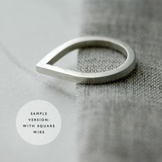 Droplet silver ring by Minicyn