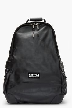 KRISVANASSCHE Exclusive Black Leather Hiking BackPack with tablet case