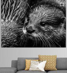 Nieuw in mijn Werk aan de Muur shop: groep vol otters