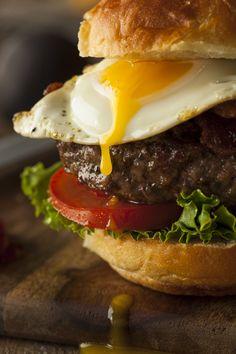 Hamburger with Egg Nom Nom Photography