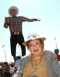 Julia Child with Big Tex at the Texas State Fair