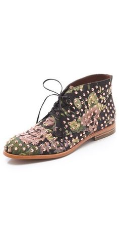 Floral Studded Booties