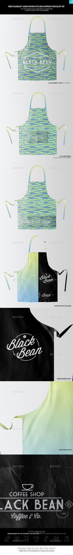 #Restaurant and Home Kietchen Apron #Mockup-07 - Miscellaneous Apparel Download here: https://graphicriver.net/item/restaurant-and-home-kietchen-apron-mockup07/19500850?ref=alena994