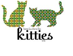 Home is Where the Kitties Are Cross Stitch Pattern