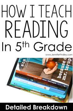 How to teach reading in grade! This post breaks down how one teacher teaches reading in grade and how her reading block is structured, including the materials and resources used to implement rigorous and engaging reading instruction. 6th Grade Reading, 6th Grade Ela, Teaching 5th Grade, 5th Grade Classroom, Middle School Reading, Fourth Grade, 5th Grade Centers, 5th Grade Books, Classroom Ideas