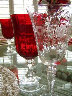 Love Vintage crystal~this one is like my mother's that I have...