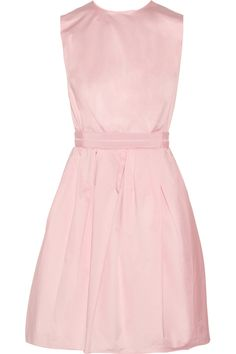 Baby-pink cotton Grosgrain waistband, slit pockets Button and concealed zip fastenings at open back 100% cotton Dry clean Designer color: Pale Pink