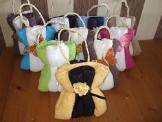 Voorbeeldkaart - tasjes van handdoeken - Categorie: Overige - Hobbyjournaal uw hobby website