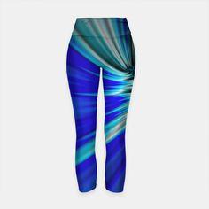 Printed Yoga Pants, Blue Space, Workout Wear, Hero, Comfy, Stylish, How To Wear, Fashion, Moda
