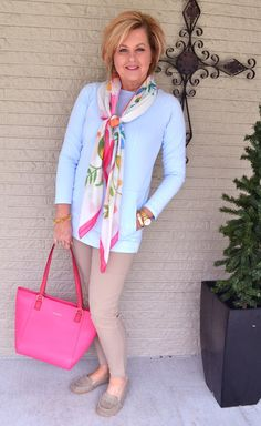 50 Is Not Old | Not All Fridays Are Good | Pastels | Blue + Pink | Fashion over 40 for the everday woman