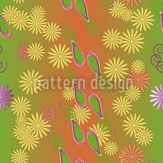 Bellies Paradise by Gangadevi Rajesh available as a vector file on patterndesigns.com Vector Pattern, Pattern Design, Gradient Color, Design Show, Vector File, Surface Design, Daisy, Paradise, Fantasy