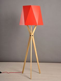 Tripod Lamp, Lighting, Home Decor, Minimalist Style, Standing Lamps, Natural Wood, White People, Display, Colors