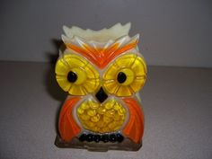1970s VTG RETRO LUCITE OWL NAPKIN HOLDER - MID CENTURY MODERN