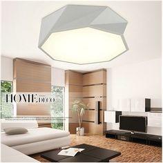 Moderne Mode simple LED Acrylique lustre plafonnier Blanche ...