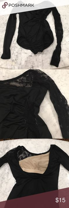 Natalie Dancewear Leotard Black Long sleeve half lace Leotard. A little worn out but still fits well and nice quality. Natalie Dancewear Other