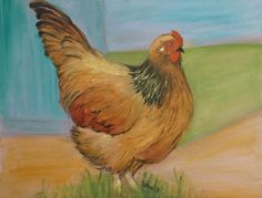 Big Fat Hen. 2014—  14x18 oil on canvas panel, $185-framed