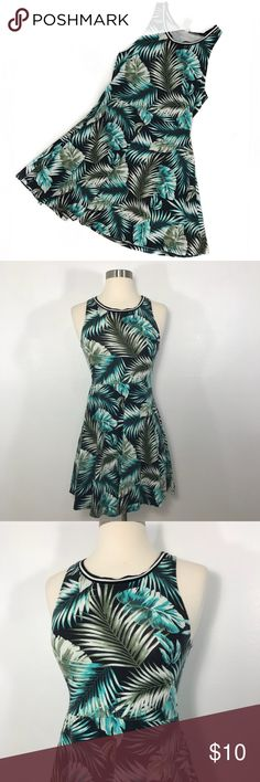 PINK Tropical Dress • Scoopneck tropical dress. This does show signs of wear from being washed and worn but is still in great condition. PINK Victoria's Secret Dresses Mini