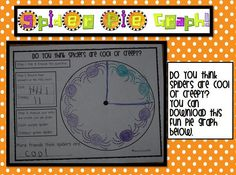 Spider unit- Experiment-Why don't spiders stick to their webs?, Math- Pie Graphing FREEBIE!