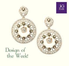 Design of the Week! #JetGems #elegant #design #exquisite #gemstones #precious #diamonds #earrings #green #danglers #wedding #jewelry #beautiful #exclusive #gorgeous #intricate #jewellery #Indian #bridal