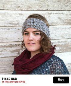 Grey Textured Headband