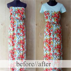 DIY Style TUTORIAL | How to Add A Basic Bodice to a Strapless Dress by Kristina J.