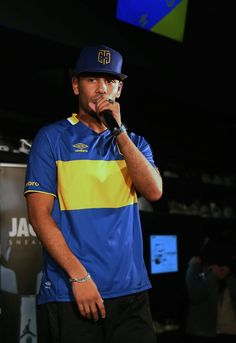 YoungstaCpt repping Cape Town City Football Club apparel