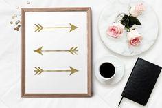 Gold foil effect arrows print https://www.etsy.com/au/listing/266193174/gold-foil-arrows-print-poster-digital